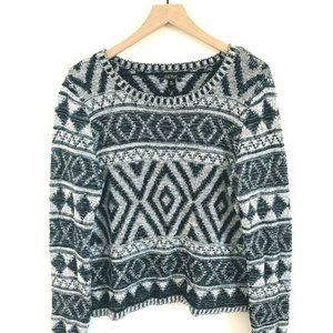 Lucky Brand Aztec Knit Pullover Sweater XL
